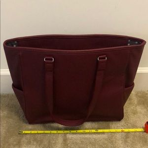 Thirty-one Cindy Tote in Deep Merlot Pebble NEW